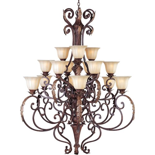 Wildon Home ® Octavio 15 - Light Multi - Tier Chandelier