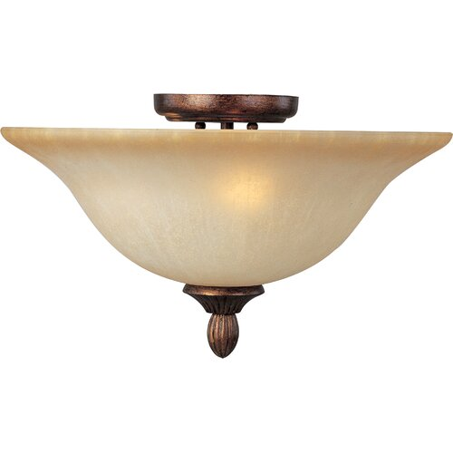 Wildon Home ® Curtin 3 - Light Semi - Flush Mount