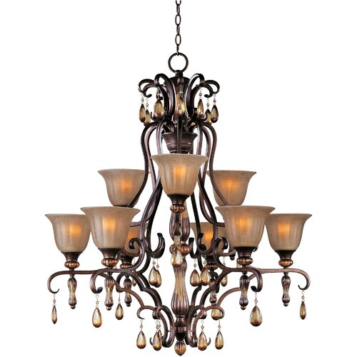 Wildon Home ® Leiy 9 - Light Multi - Tier Chandelier