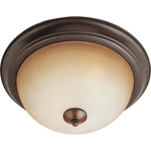 "Maxim Lighting Maxim 6"" 2 Light Flush Mount"