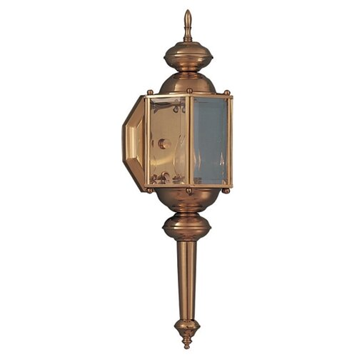Wildon Home ® Builder Brass Short Outdoor Wall Lantern with Long Arm
