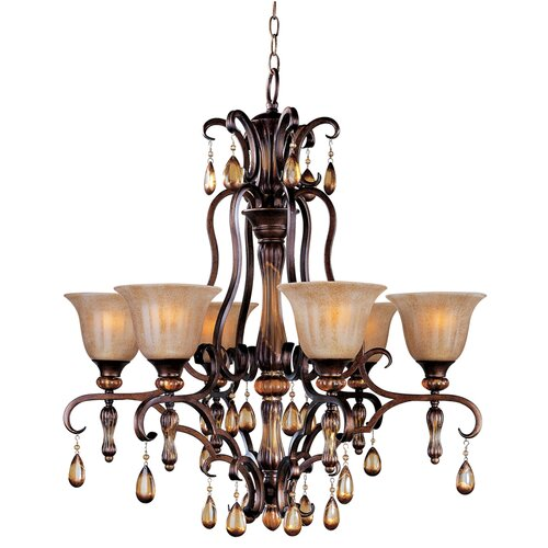 Leiy 6 - Light Single - Tier Chandelier