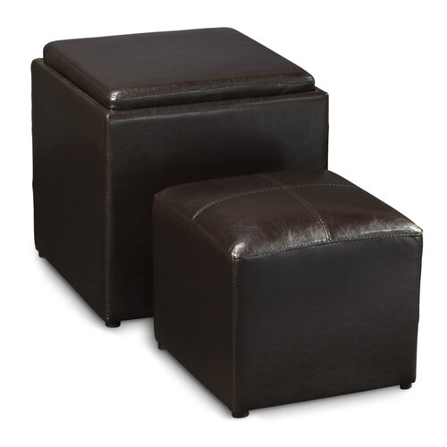 Convenience Concepts Designs4Comfort Park Avenue Cube Ottoman with Stool