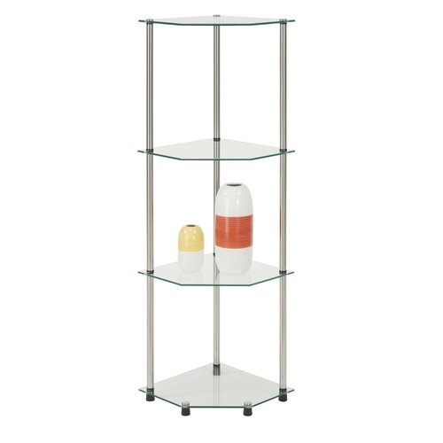 "Convenience Concepts 13.75"" x 46.5"" Classic Four Tier Corner Shelf"