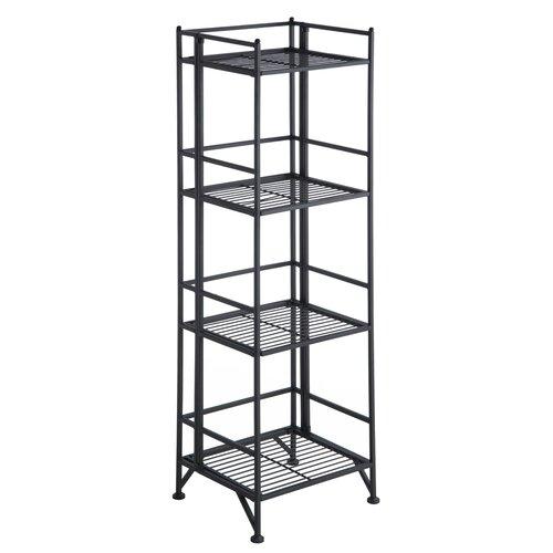 Convenience Concepts XTRA Storage 4 Tier Folding Shelf in Black