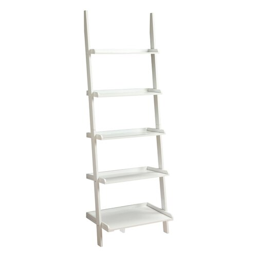 "Convenience Concepts French Country 72"" Ladder Bookcase"