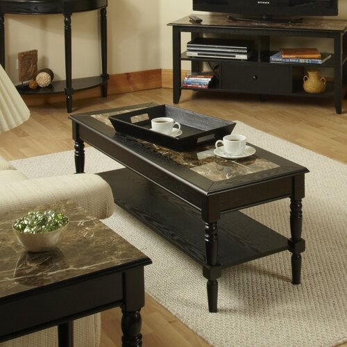 French Country Coffee Table And End Tables: Convenience Concepts French Country Coffee Table & Reviews