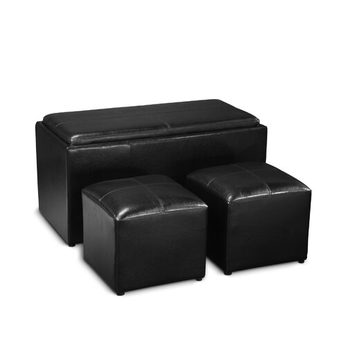 3 Piece Designs4Comfort Sheridan Storage Bench Ottoman