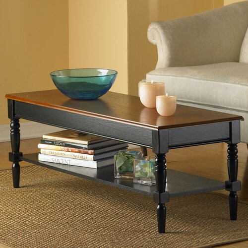 French Country Coffee Table with Shelf