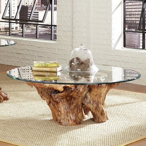 Coffee Table Made Out Of Tree: Hammary Hidden Treasures Root Ball Coffee Table & Reviews