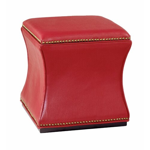 Hidden Treasures Leather Storage Ottoman