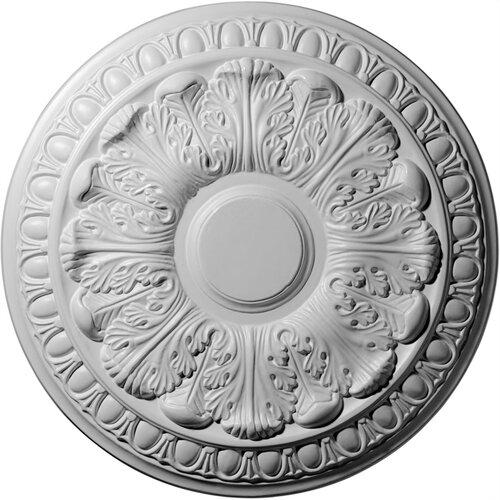 "Ekena Millwork Colton 15.75"" H x 15 3/4"" W x 1.5"" D Ceiling Medallion"
