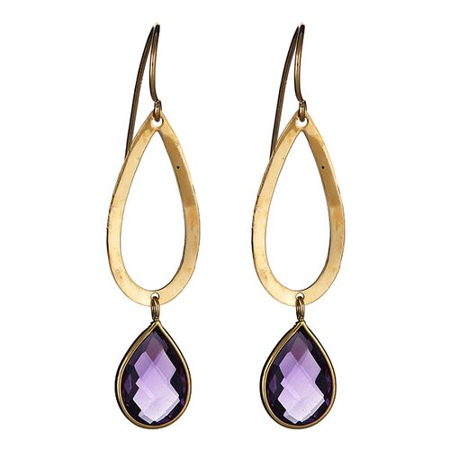 Pear Cut Amethyst Drop Earrings