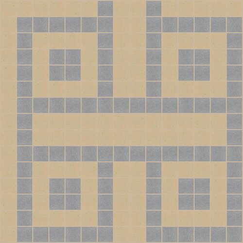 Mosaic Loft Urban Essentials Square Lattice Mosaic Pattern Tile in Urban Khaki