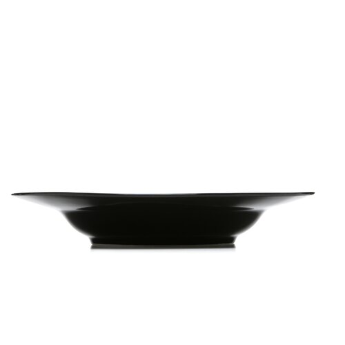 "Ten Strawberry Street Black Rim 9"" Soup Bowl"