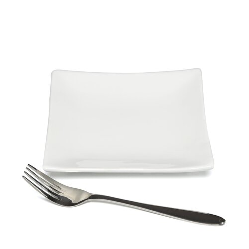 "Ten Strawberry Street Whittier Coupe 6"" Square Plate"