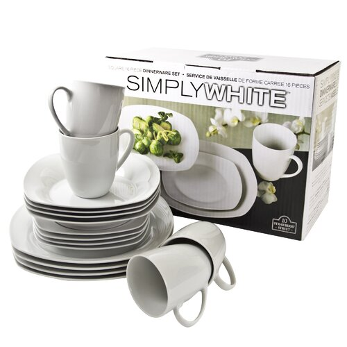 Simply Square 16 Peice Dinnerware Set