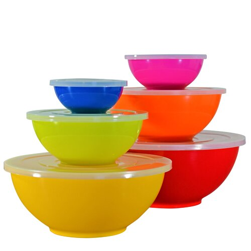 Ten Strawberry Street Assorted Melamine Mixing Bowl