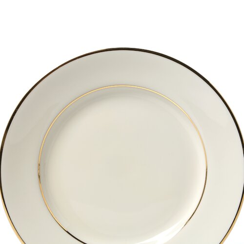 "Ten Strawberry Street Cream Double Gold 6"" Bread and Butter Plate"
