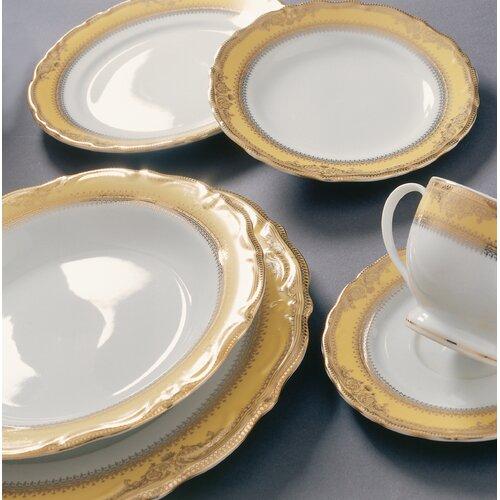 "Ten Strawberry Street Vanessa Gold 9"" Lunch Plate"