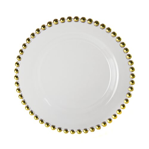 "Ten Strawberry Street Belmont Gold 11"" Dinner Plate"