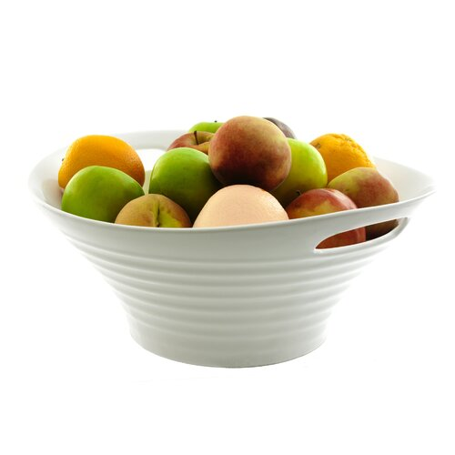 "Ten Strawberry Street  Oslo Serveware 15.75"" Fruit Bowl with Handle"