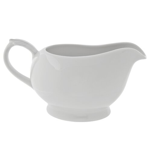 Ten Strawberry Street Classic White 16 oz. Gravy Boat