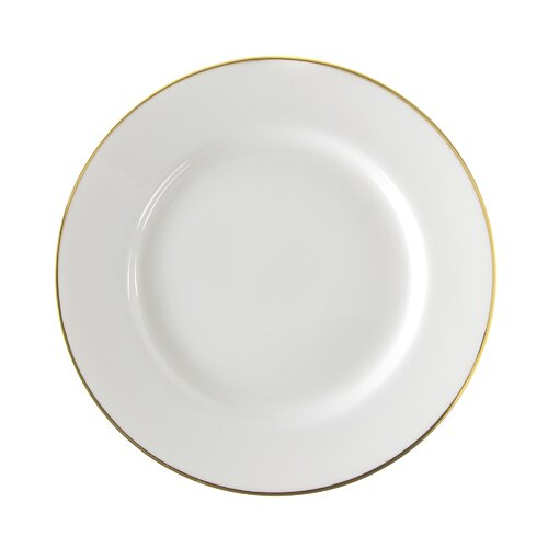 "Ten Strawberry Street Gold Line 10.25"" Dinner Plate"