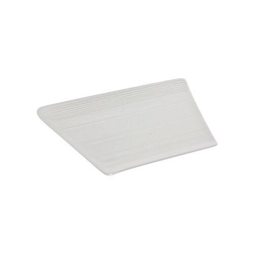 """Ten Strawberry Street Whittier Zen Trapezoid 11"""" Plate"""