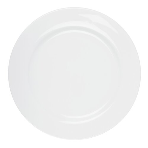 "Ten Strawberry Street Classic White 12"" Charger Plate"