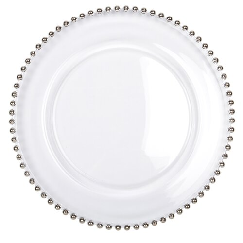 "Ten Strawberry Street Belmont Silver 13"" Charger Plate"