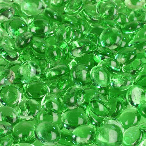 5 lbs of Glass Gems in Light Green