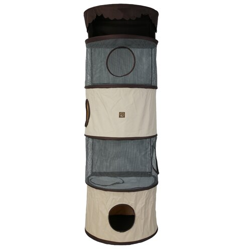 "One For Pets 70"" Portable Five Story Cat Condo"