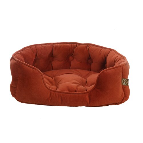 Faux Suede Snuggle Bolster Dog Bed