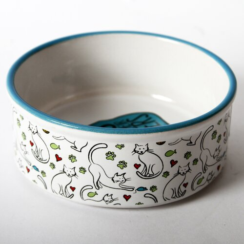 DEI Mr. Snugs  Cat Feeding Bowl