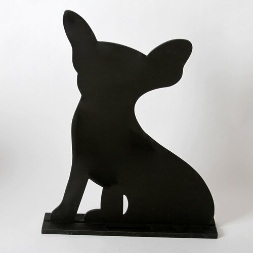 "DEI Unleashed ""Chihuahua"" Dog Silhouette Table 1' 3"" x 1' 0.25"" Chalkboard"