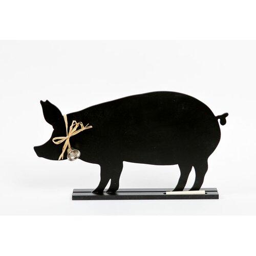 "DEI Farm to Table Pig Standing 1' 2"" x 1' Chalkboard"