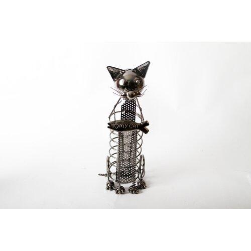 "DEI Mr. Snugs ""I Love My Cat"" Cat Tabletop Wine Rack"