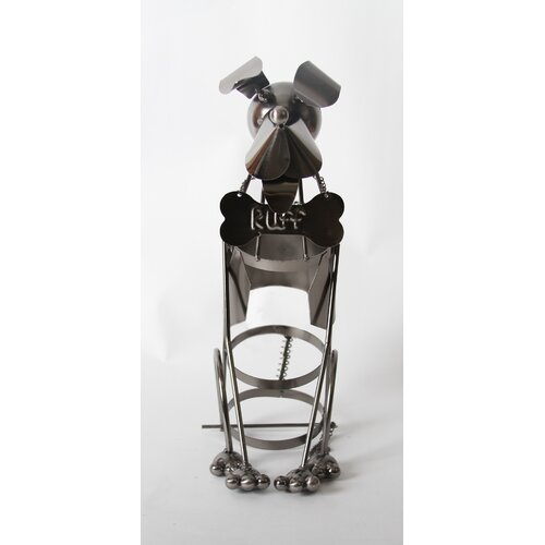"DEI Unleashed ""Ruff"" Doggie Tabletop Wine Rack"
