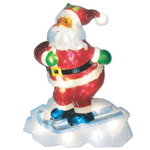 LED Icy Santa Lawn Silhouette Christmas Decoration