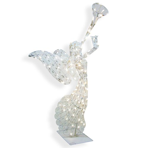 140 Light 3D Animated Angel Sculpture Christmas Decoration