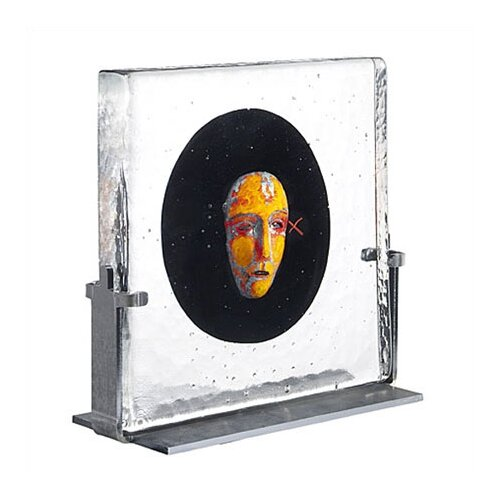 Kosta Boda Black Elements Black Moon Sculpture
