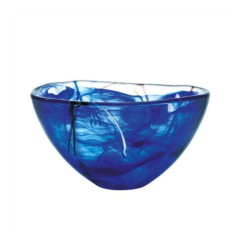 Kosta Boda Contrast Medium Blue Bowl