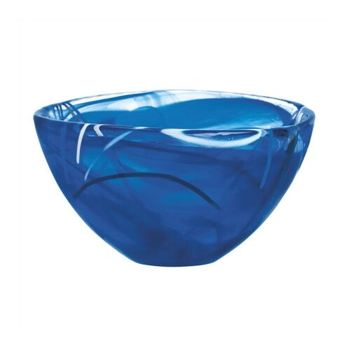 Kosta Boda Contrast Small Blue Bowl