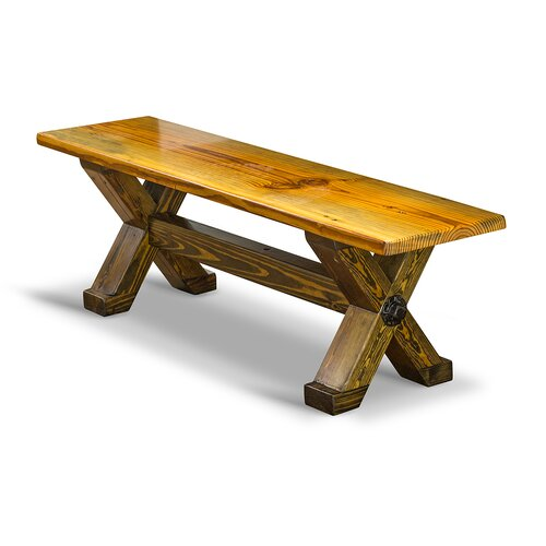 Cross Beam Wood Kitchen Bench