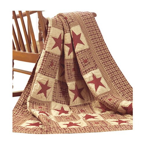 IHF Home Decor Vintage Star Cotton Quilted Throw