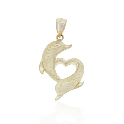 Dolphins Kissing Charm