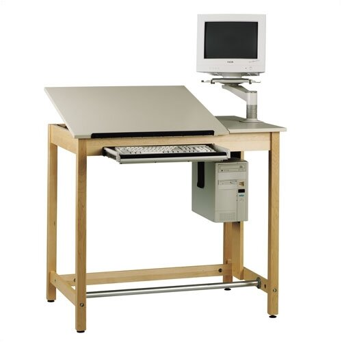 "Shain Computer Aided Design 42""W x 30""D Drawing Table"