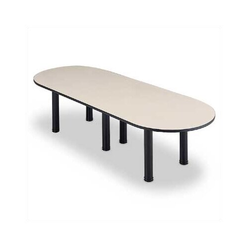 ABCO Single Groove T-Mold Edge Conference Table with Post Legs