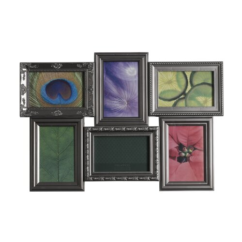 Melannco 6 Opening Multi Profile Collage Picture Frame